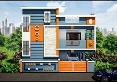 Single Floor House Design, Modern Small House Design, Small House Exteriors, Bungalow House Design, House Front Design, Dream House Exterior, Village House Design, Kerala House Design, 20x40 House Plans