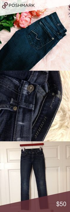 7FAMK Roxanne Skinny Jeans 7 For All Mankind dark wash - Roxanne skinny fit - great jeans! - size 24 - in excellent condition! 7 For All Mankind Jeans Skinny