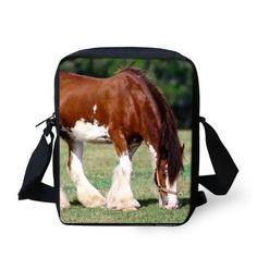 3D Crazy Horse messenger bag
