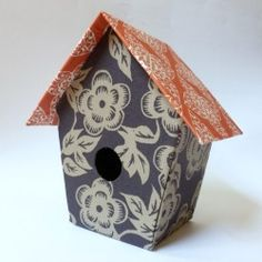 Birdhouse tutorial. No wood shop experience required! I think a bunch of these would look really cute on a string in a house!!!