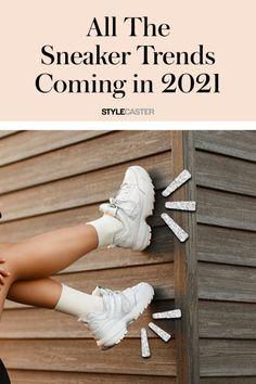 STYLECASTER | Sneaker Trends 2021 | sneaker head | sneakers fashion | women's sneakers fashion | sneakers outfits | trendy sneakers Dress And Sneakers Outfit, Sneakers Fashion Outfits, Summer Sneakers, Best Sneakers, Plain White Sneakers, White Shoes, Trendy Womens Sneakers, Sneaker Trends, Futuristic Shoes