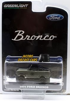 """1:64 GREENLIGHT 1977 FORD BRONCO MILITARY TRIBUTE """"SARGE 77"""" HOBBY EXCLUSIVE  #GreenLight #Ford"""