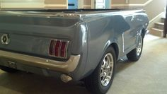 Sweet Silver Blue 1965 Ford Mustang Pool Table. www.CarPoolTables.com