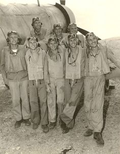 VMF-214 pilots, the Black Sheep Squadron, US Marine Corps fighter squadron, 1944