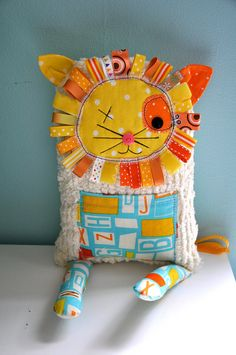 cute lion by littlebitfunky on etsy