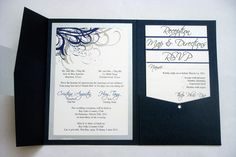 navy wedding invitations | Blue (Navy) and Silver Vietnamese Wedding Invitations | Flickr - Photo ...