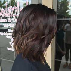 Soft balayage & long bob on this beautiful brunette #hairpainting #balayage…