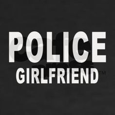 Police Girlfriend Womens V-Neck T-Shirt