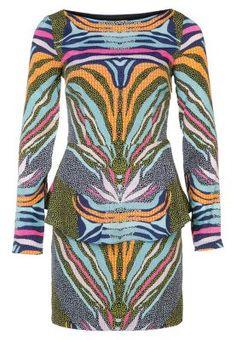 Sukienka koszulowa - kolorowy