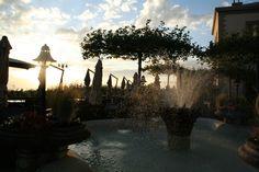 Beautiful sunset on our terrace - November 2013 - Hôtel des Trois Couronnes, Vevey, Switzerland