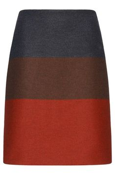 Hugo Boss Malivi color-block wool blend skirt