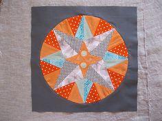paper-pieced star