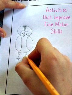Fine motor skills are so important for kids -- here are a number of fun activities and items that will help them to improve these skills and their writing.