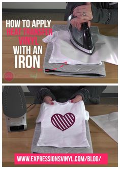 how to apply heat transfer vinyl with an iron expressions vinyl
