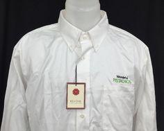 Wonderful Pistachios Men's Promotional Advertising White Button Down Shirt L #RedHouse #ButtonFront