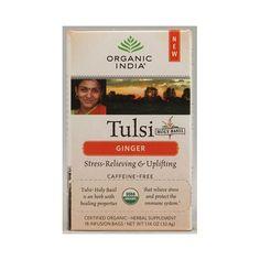 Organic India Tulsi Tea Ginger - 18 Tea Bags - Case Of 6