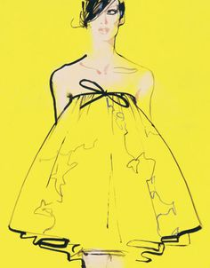 completely obsessed with the work of fashion illustrator David Downton. Downton has recently published a book entitled Masters of Fashion Illustration which chronicles the century's most brilliant fashion artists & includes a chapter of his own work. David Downton, Fashion Illustrations, Fashion Sketches, Illustration Fashion, Dress Sketches, Drawing Fashion, Design Illustrations, Fashion Sketchbook, Arte Fashion
