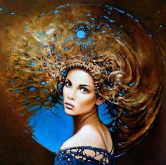 "Amazing  Paintings of  Women  by KAROL BĄK . I""m in Love with hes Art!"