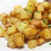 preparing potatoes for the freezer