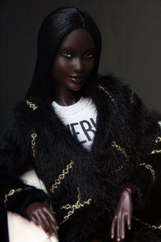 Barbie Fashionista Dolls, Diva Dolls, African Dolls, African American Dolls, Beautiful Barbie Dolls, Pretty Dolls, Annette Himstedt, Afro, Pelo Natural
