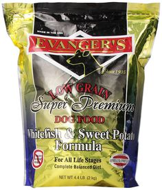 EVANGER'S 776016 Skin/Coat Form Whitefish and Sweet Pot Dry Food for Dogs, 4.4-Pound ^^ Find out more details by clicking the image : Dog Food