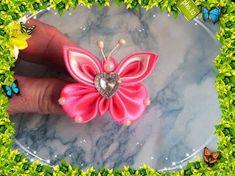 """Бабочка — символ души . В этом видео вы увидите как своими руками сделать красивое украшение в стиле """"Канзаши"""" - миленькую бабочку. Постаралась сделать МК ка..."""