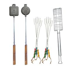 Rome 11 Pc Firepit Cookout Utensil Set w Carrying & Storage Bag Camping Meals, Tent Camping, Camping Cooking, Glamping, Camping Stuff, Camping Kitchen, Camping Lights, Camping Activities