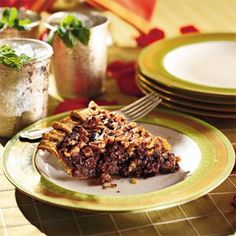 Derby pie: A rich chocolate bourbon pecan pie is a Kentucky tradition.