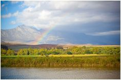 Rainbow in Bonnievale, Western Cape, South Africa