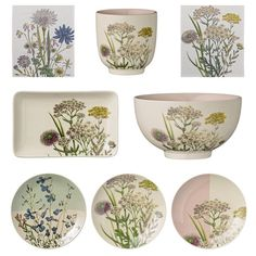 GOING BACK TO NATURE! The Spring 2015 is filled with references to nature! // Get a botanical feel in your home with an amazing color range of tableware with beautiful illustrations! // #Bloomingville #Interior #Nordic #Design #Nature #Botanical #Home #Decor #Tableware #Color #Beautiful #Illustrations #Happychanges //