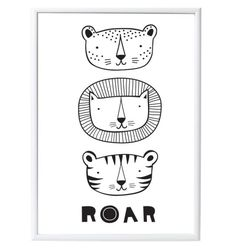 <p>Original poster with tigers with the text 'Roar'. Cool for a boys room!</p>