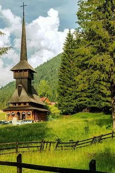Wooden church in Poiana Brasov, Romania. Beautiful Places In The World, Places Around The World, Wonderful Places, Around The Worlds, Brasov Romania, Visit Romania, Cathedral Church, Old Churches, Place Of Worship