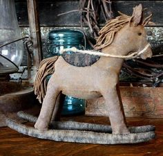 Primitive Rocking Horse Doll E-pattern