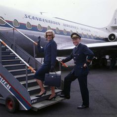 Flight Attendant and Pilot