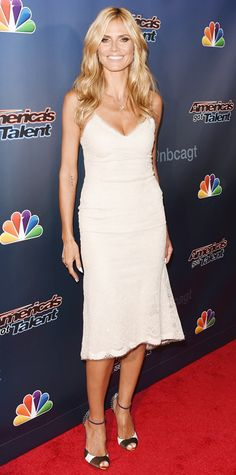 Look of the Day - August 2, 2014 - Heidi Klum in Marchesa from #InStyle