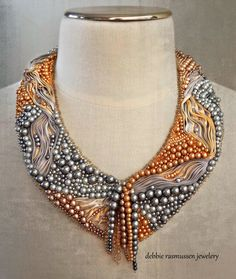 "Gorgeous Pearl Necklace over on the ""A little of this, a little of that"" Blog - such talent!!!"