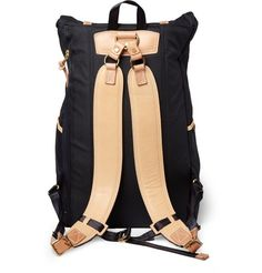 Fancy - Surpass Leather-Trimmed Canvas Backpack by Master-Piece