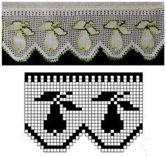 Filet Crochet, Crochet Motifs, Crochet Tunic, Crochet Borders, Tapestry Crochet, Crochet Chart, Crochet Doilies, Crochet Lace, Crochet Hooks