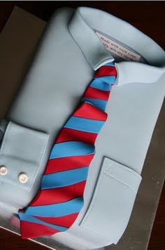 father's day - shirt & tie cake