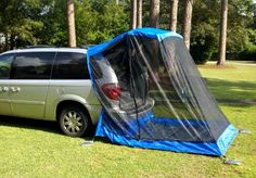 This is the Tail Veil Tent for minivans.  You can also buy the Rainfly which gives privacy, too.