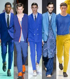 blue fashion trend 2013 | Blue colour trend - blue clothing for men | fashion trend 2013 2014 ...