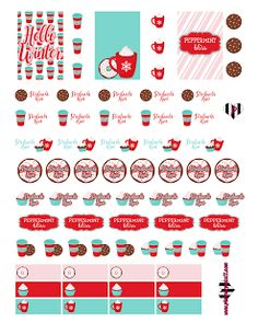 @planner.PICKETT: FREE Peppermint Bliss Planner Sticker Printable