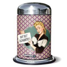 Cubo de basura retro para el baño. Si os gusta podéis ver más detalles o comprarlo en nuestro blog.
