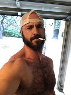 CORNELIA: Hot hairy studs smoking cigarettes