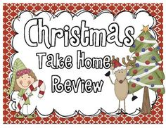 Christmas Take Home Packet: Common Core Math and ELA aligned with standards listed below and inside the packet! Keep your kiddos learning over Christmas Break or Winter Break! You can also easily use this as a review in your classroom- or just use as supplement activities! So many options you can see!!