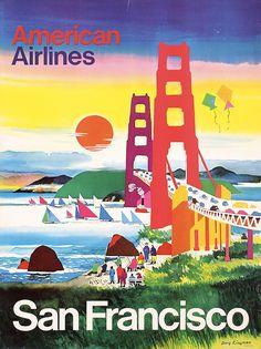 Original 1960s San Francisco Travel Poster KINGMAN
