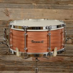 Dunnett 6.5x14 Custom Titanium Snare Drum w/African Mahogany Outer Wrap & Single Flange Hoops 2013 USED