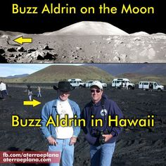 Fake #6. Does not look like Aldrin, and the upper photo looks more like Apollo 17 site. Apollo 11 site was relatively flat.