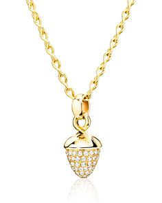 Mikado Bouquet 18K Yellow Gold Pavé Diamond Pendant Enhancer - Tamara Comolli
