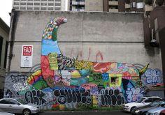 Chinatown Mural by Da Mental Vaporz & Friends
